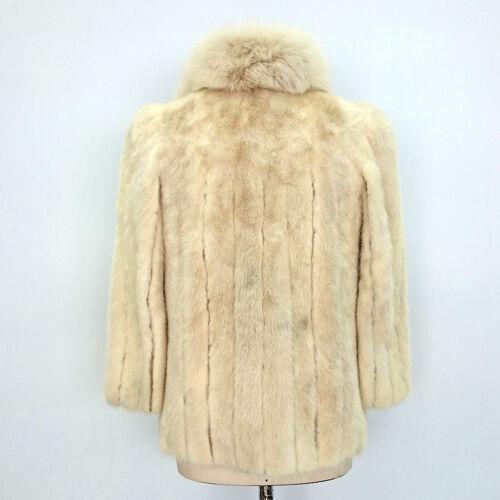 Vintage Di Volpe Collo In Faberge Giacca Con 7039 Pelliccia Visone Art gPSxtnw