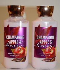2 Bath & Body Works Champagne Apple & Honey shea vitamin E Body Lotion 8 oz new