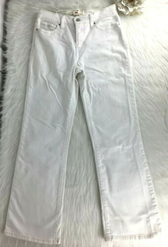 Levis 512 White Denim Pants Sz 10M Womens Bootcut