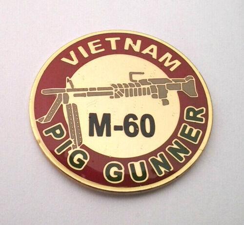"VIETNAM PIG GUNNER 1/"" Military Hat Pin 13092 HO"
