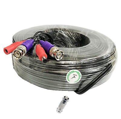 4x 60ft 8MP//4K BNC VideoPower Siamese Cable for CCTV Surveillance Camera DVR Kit