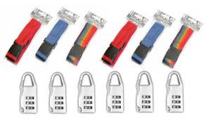 6x-Koffergurt-mit-6x-Kofferschloss-Gepaeckschloss-Kofferband-Set-Gepaeckband