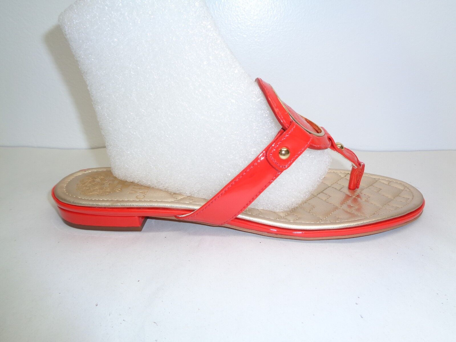 Vince Camuto Size 6.5 M BRAIDA Red Leather Thong Sandals New Womens shoes