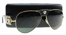 New Versace Sunglasses Men Aviator VE 2150Q Gold 100271 VE2150Q 62mm