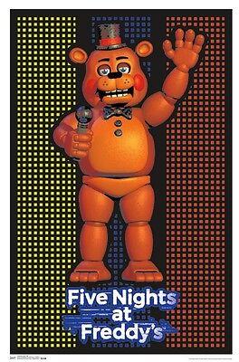FIVE NIGHTS AT FREDDY'S - BLACKLIGHT POSTER - 24X36 FLOCKED FREDDY 14833