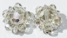 boucles d'oreille clips bijou vintage top signé LISNER perle cristal * 3567