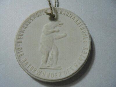 31184 Meissen Medaille Rübeländer Tropfsteinhöhlen 37mm Medal Porcelaine