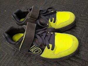 Mens-Five-Ten-Hellcat-Size-11-US-44-5-EU-Black-lime-punch-mtb-clipless-shoes