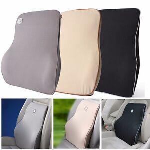 memory foam lumbar back support cushion pillow home car office seat