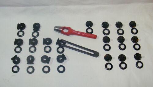 Locheisen /& Schlüssel 10 Minaxverschlüsse Minax-Komplettset Ober- /& Unterteil