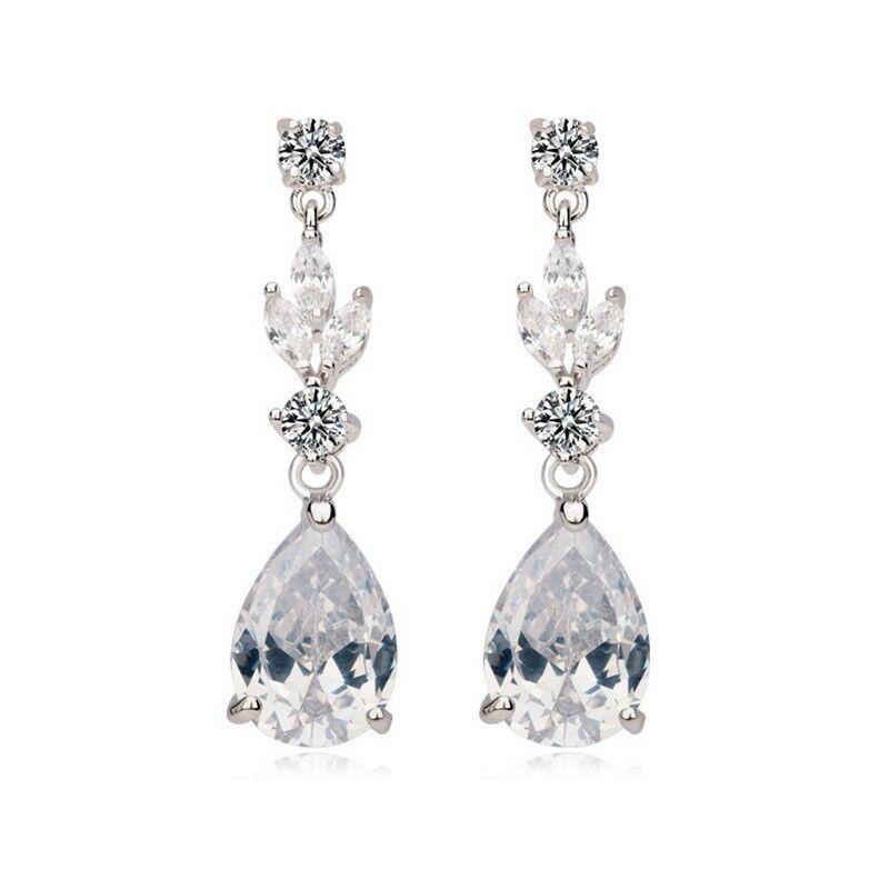 Fairy Tale Drop Earrings Bridal Jewellery CZ Cubic Zirconia - CRYSTALA