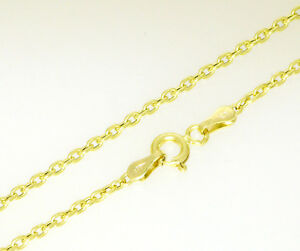 Damen-Gold-Anker-kette-Halskette-585-Gold-45-cm-Collier-Neu