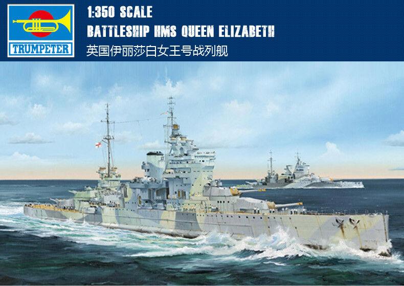 Battleship barco HMS Queen Elizabeth 1 350 Modelo Kit 05324 Trumpeter