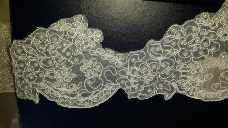 Bridal lace. Bridal buttons. Invisible zips