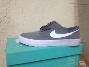Details about Shoes SHOES NIKE SB Portmore II (GS) Skateboard Grey Leather Unisex num 38- show original title