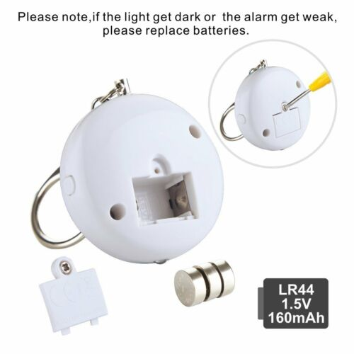 3X Safe Personal Alarm Siren Song Sound Scream Safe Style LED Light 130DB Loud