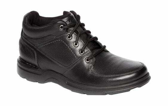 Rockport Men's Eureka Plus Ankle avvio nero Leather