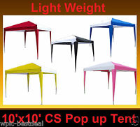 Cs Series - 10'x10' Pop Up Canopy Party Tent Ez Cs N - 5 Colors Available