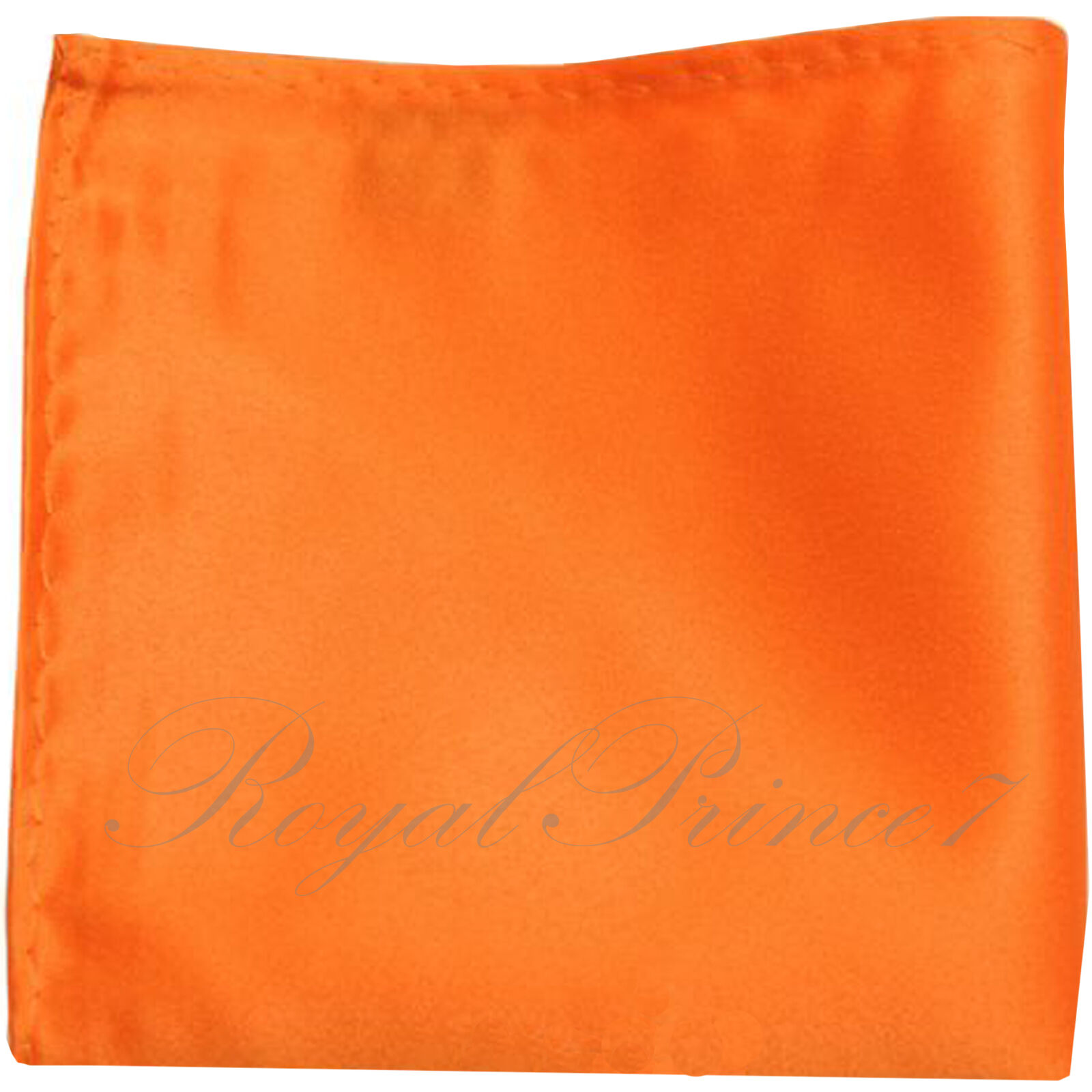 New Men's SOLID Pocket Square Hankie Only Orange 10 x 10 inches