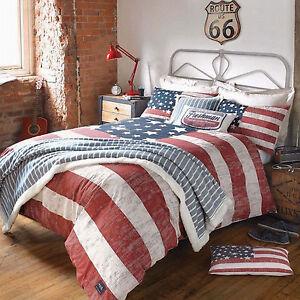 Image Is Loading American Freshman LENOX Red Navy Cotton Modern Bedding