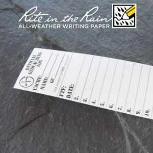 10-x-NEW-GEOLoggers-SMALL-3-5cm-Geocaching-Log-Sheet-Rite-in-the-Rain