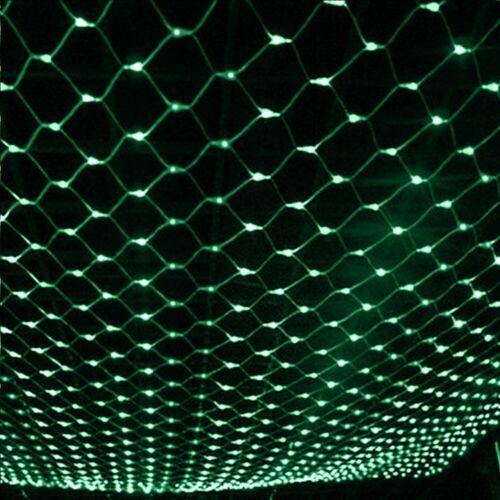 LED Guirlande Rideau Filet Lampe Lumière de Fée Jardin Maison Noël Fête Décor FR