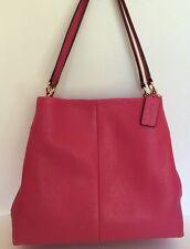 Coach F35723 Madison Phoebe Shoulder Handbag Dahlia (Pink )Gold Hardware Size MD