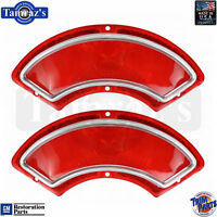 1962 Pontiac Catalina Taillight Tail Light Brake Lamp Lens - Pair Usa Made