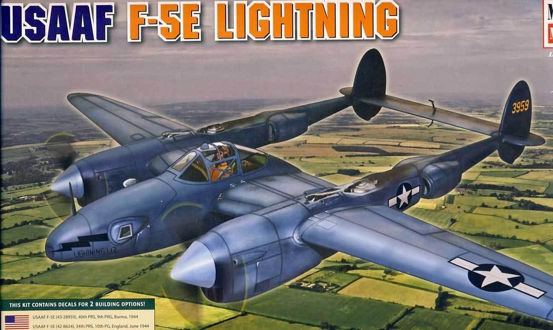 Minicraft - USAAF F-5E Lightning Burma & England 1944 Model Kit 1 48 New