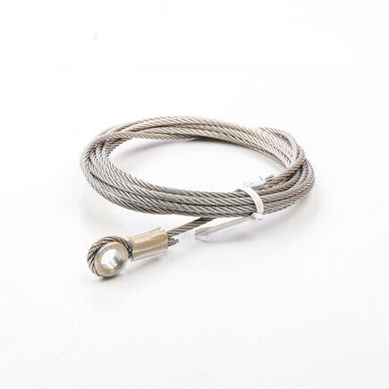 """WHITING DOOR MANUFACTURING CABLE-BEIGE-130/"""" 5//16/"""" EYE 1-4"""