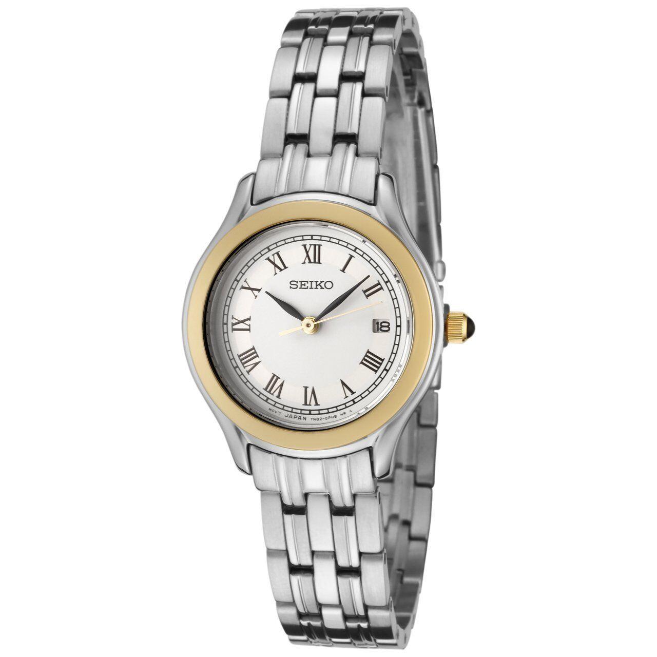 Seiko Ladies Analogue White Dial Stainless Steel Bracelet Watch