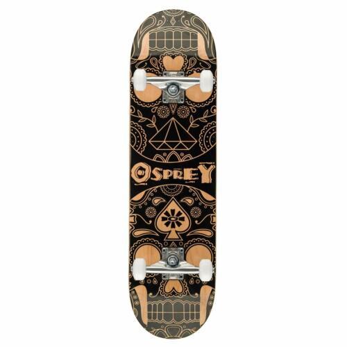 """Osprey 31/"""" COMPLETO A DOPPIO KICK Acero DECK Trucco Skateboard Principianti Divertente"""