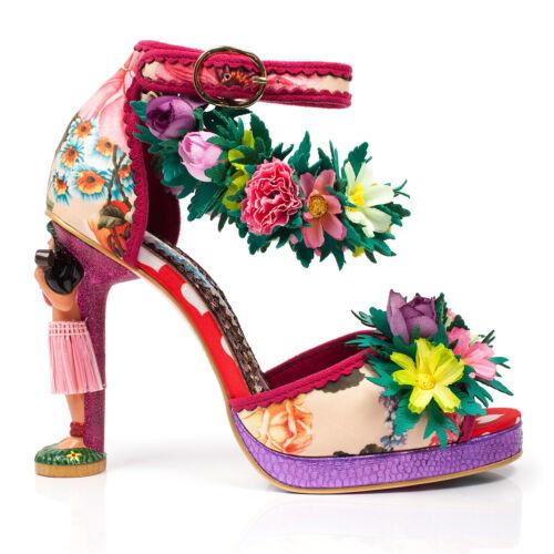 Irregular Choice bouillons Lulu Exotic Tropical Floral Hawaii Hula Girl Heel Shoes