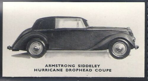 ARMSTRONG SIDDELEY HURRICANE DROPHEAD KELLOGGS-MOTOR CARS -#07 BLACK /& WHITE