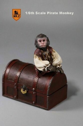 MR.Z 1:6 Resin Animal Pet Model 2pcs Pirate Monkey /& Barrels Treasure Box Figure