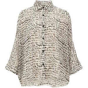 7a29a8d2970436 New Animal Print Batwing Shirt by Oh My Love Ladies White One Size ...