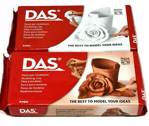New Das Modelling Clay Air-Dry Sculpting No Baking Self Hardening  White 500g
