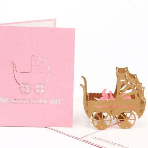 Handmade 3D Laser Cut Paper Greeting cadeaux cartes 8 C
