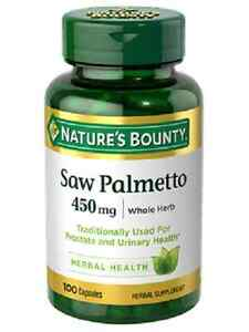 bounty palmetto saw nature prostate health supplement urinary 450mg natural supplements