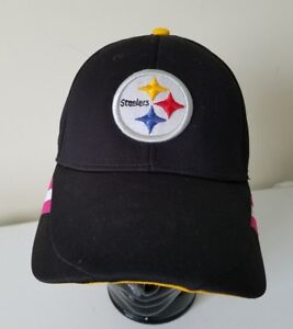 Image is loading Pittsburgh-Steelers-Reebok-Pink-Breast-Cancer-Ribbon -Embroidered- 7141e1b4f
