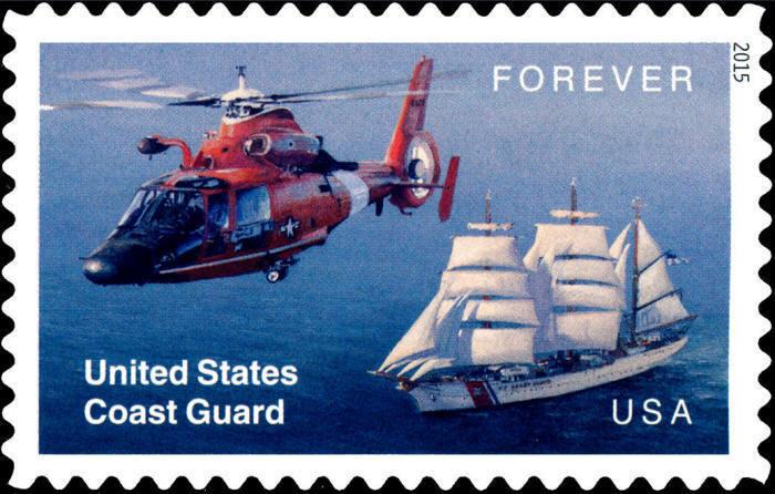 2015 49c United States Coast Guard Scott 5008 Mint F/VF