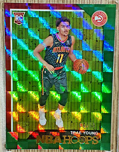 2018-19-Panini-Hoops-Trae-Young-99-Rookie-RC-Checkerboard-SSP-Hawks