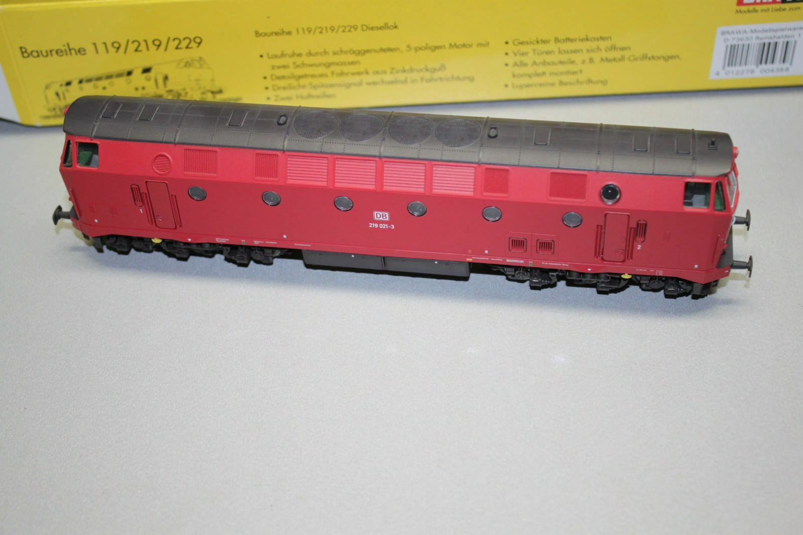 Brawa 0435 corriente alterna diesellok serie 219 021-3 DB DSS Spur h0 OVP