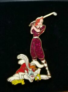 Disney-Auctions-ROGER-amp-JESSICA-Rabbit-GOLFING-Tee-It-Off-Golf-LE-100-Pin-WFRR