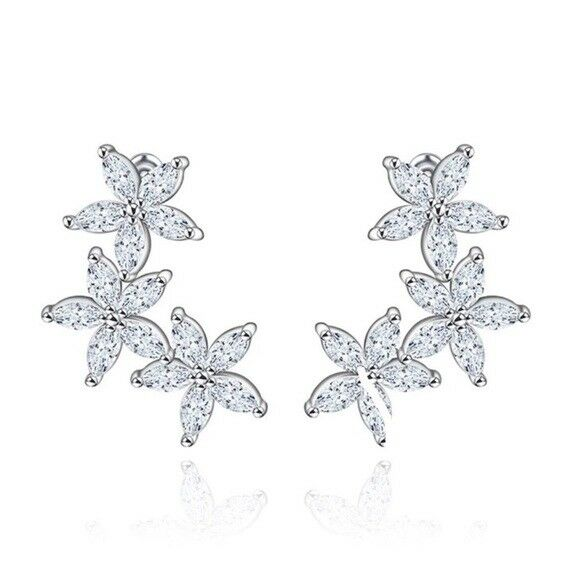 Made Using Swarovski Crystals The Rimona Dainty Star Climber Earrings  88 S5