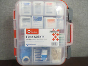 American Red Cross Clear Front 358 Piece First Aid Kit ~NEW & SEALED~
