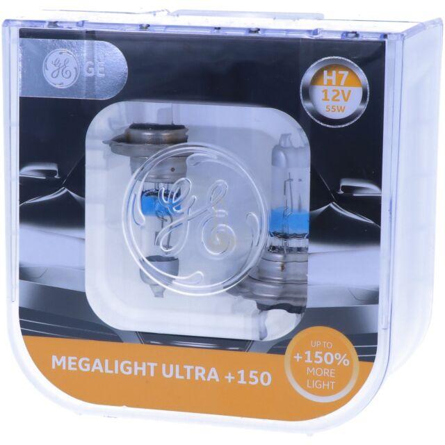 H7 GE Lighting Megalight Ultra 150% mehr Licht 58520NXNU Maximale Leistung NEU