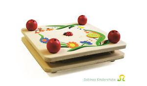 Kinder-Blumenpresse-Marienkaefer-Holz-NEU