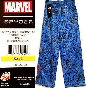 Spyder-Marvel-SPIDER-MAN-Boy-039-s-Momentum-Fleece-Pants-Medium-10-12-NWT