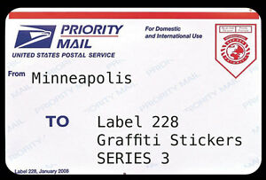 228 labels 3 by joe cunningham minneapolis postal label graffiti